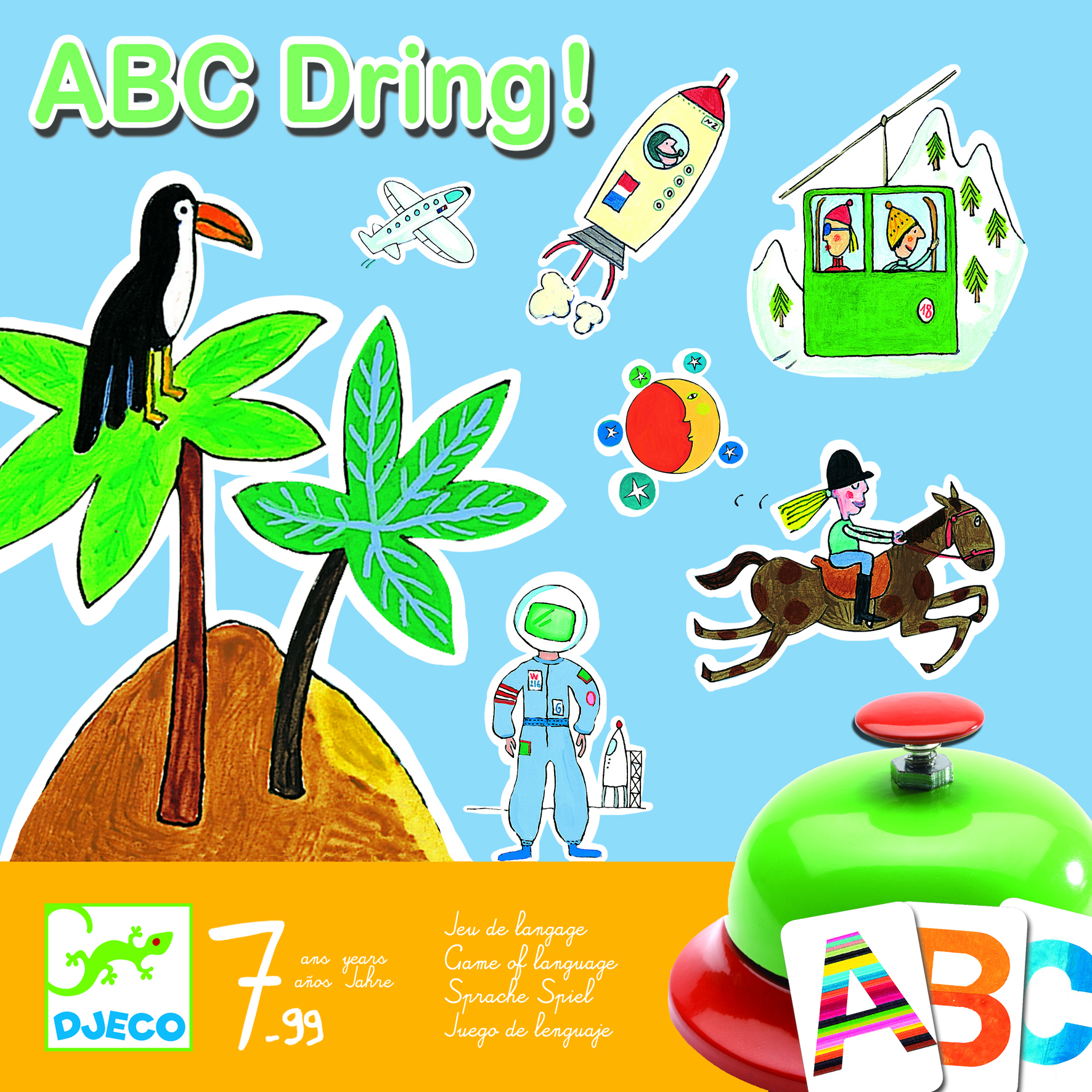Joc de societate abc dring djeco
