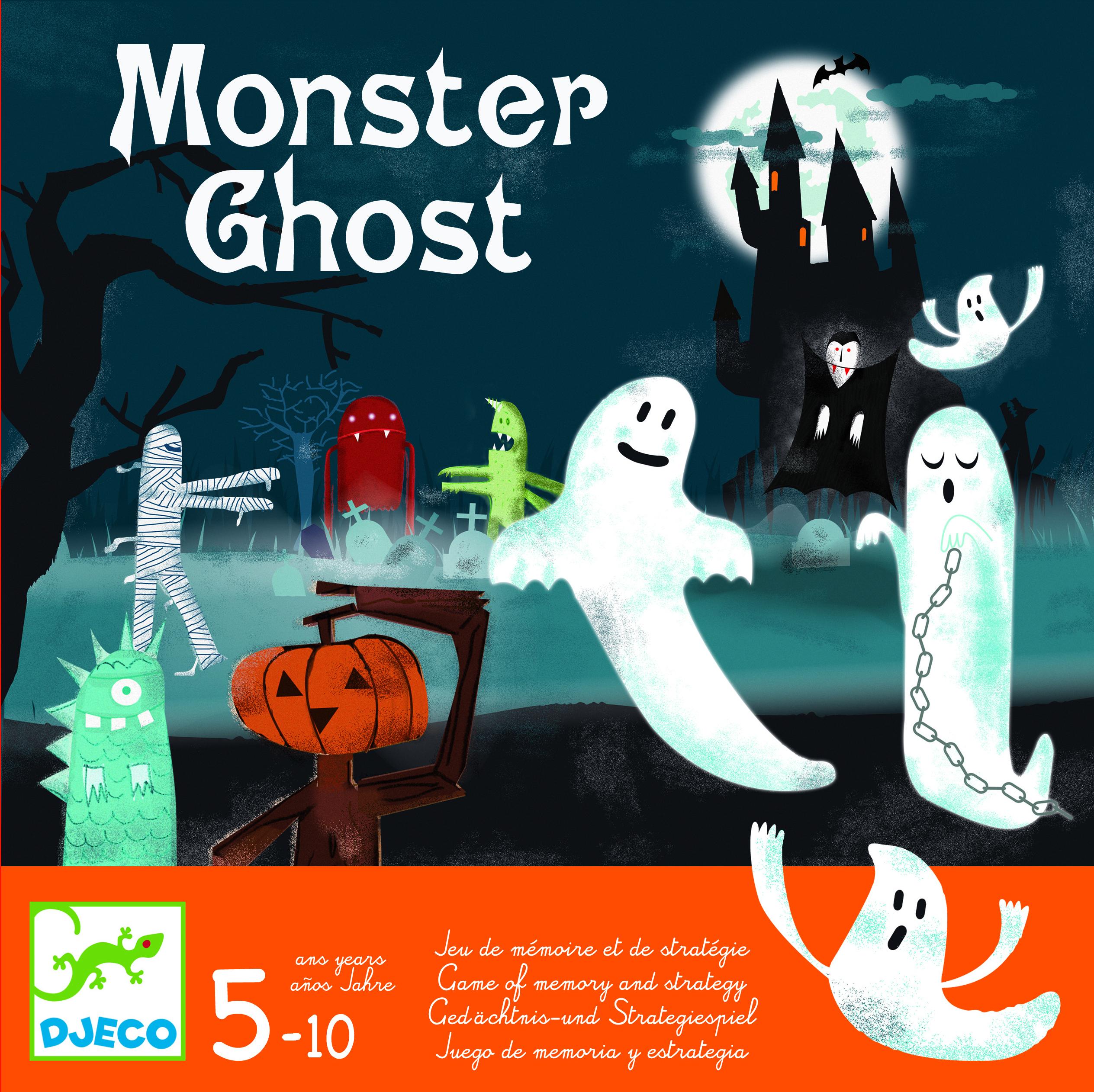 Joc de memorie si strategie monster ghost djeco