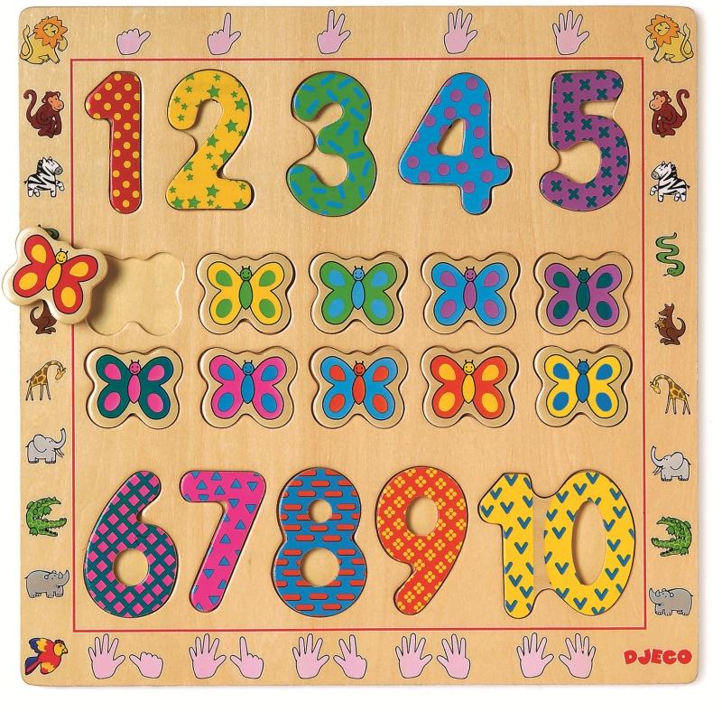 Puzzle lemn cifre djeco