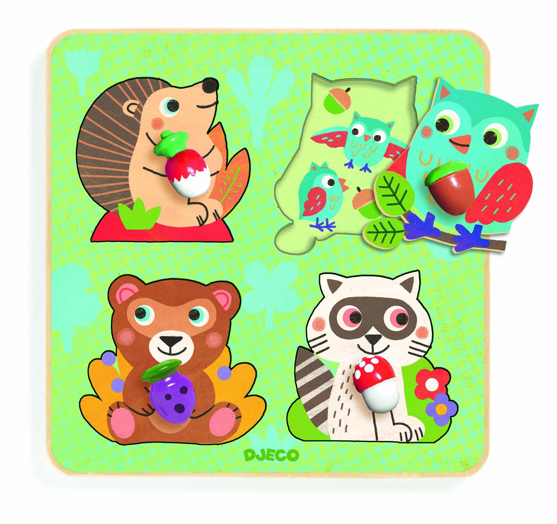Puzzle animale din padure djeco imagine