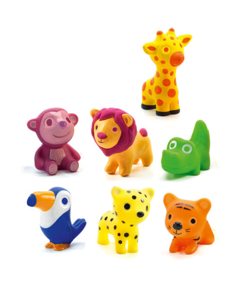 Animalute din silicon troopo savana djeco imagine