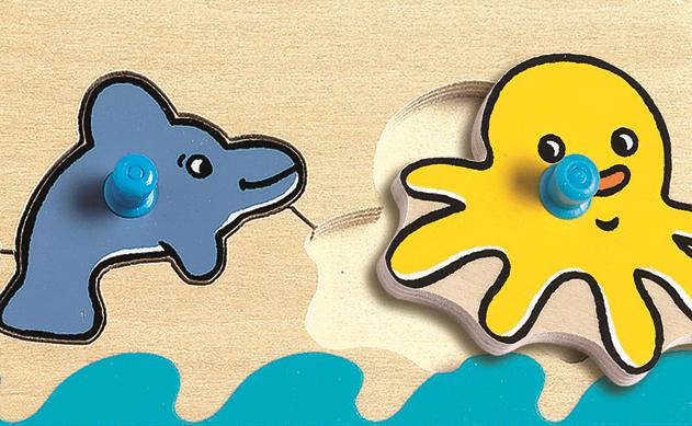 Puzzle lemn cu buton oceanul djeco imagine