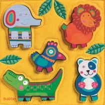 Puzzle lemn si fetru jungla djeco imagine