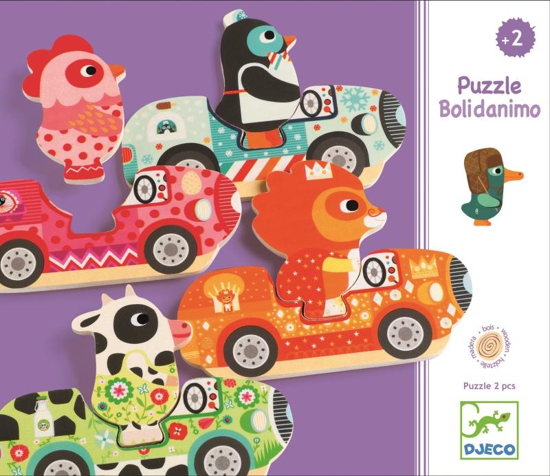 Puzzle interschimbabil vehicule djeco imagine