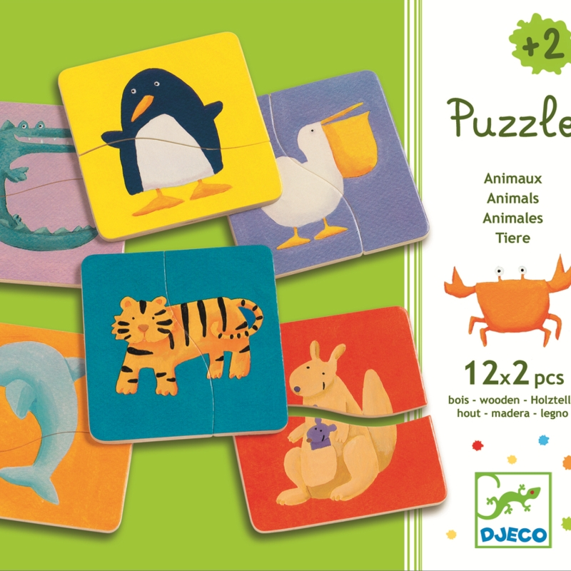 Puzzle lemn animale djeco imagine