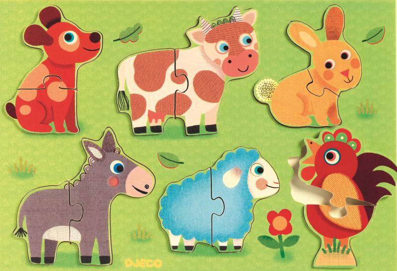 Puzzle lemn coucou djeco imagine