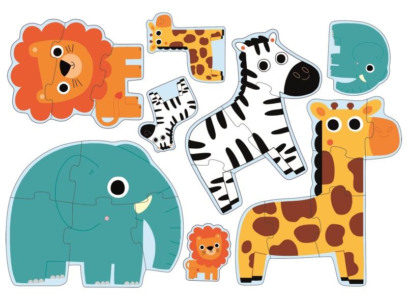 Puzzle progresiv in jungla djeco