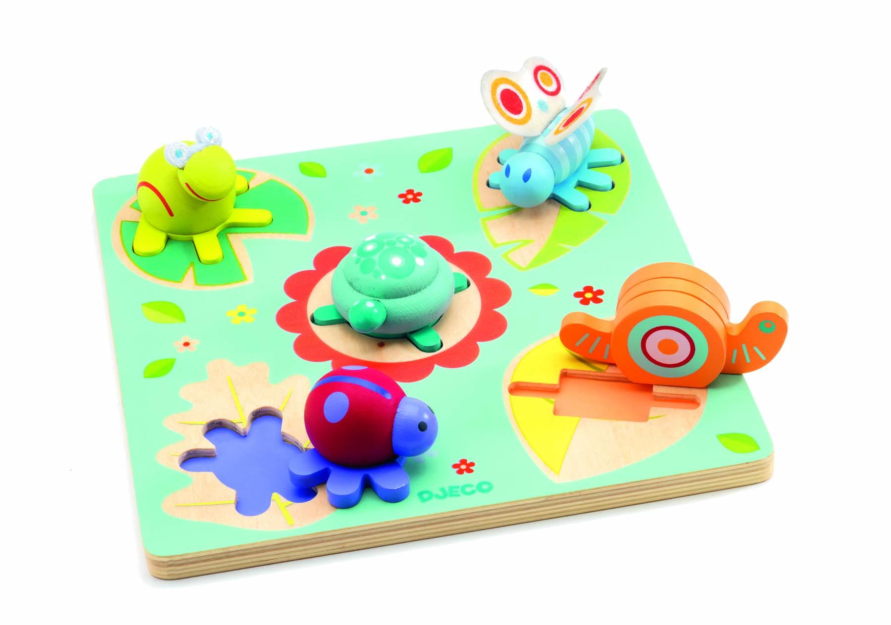 Puzzle lemn relief testoasa si prietenii djeco imagine