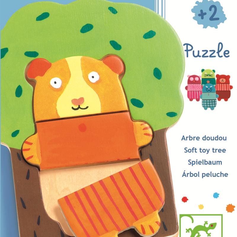 Puzzle lemn copacul vesel djeco imagine