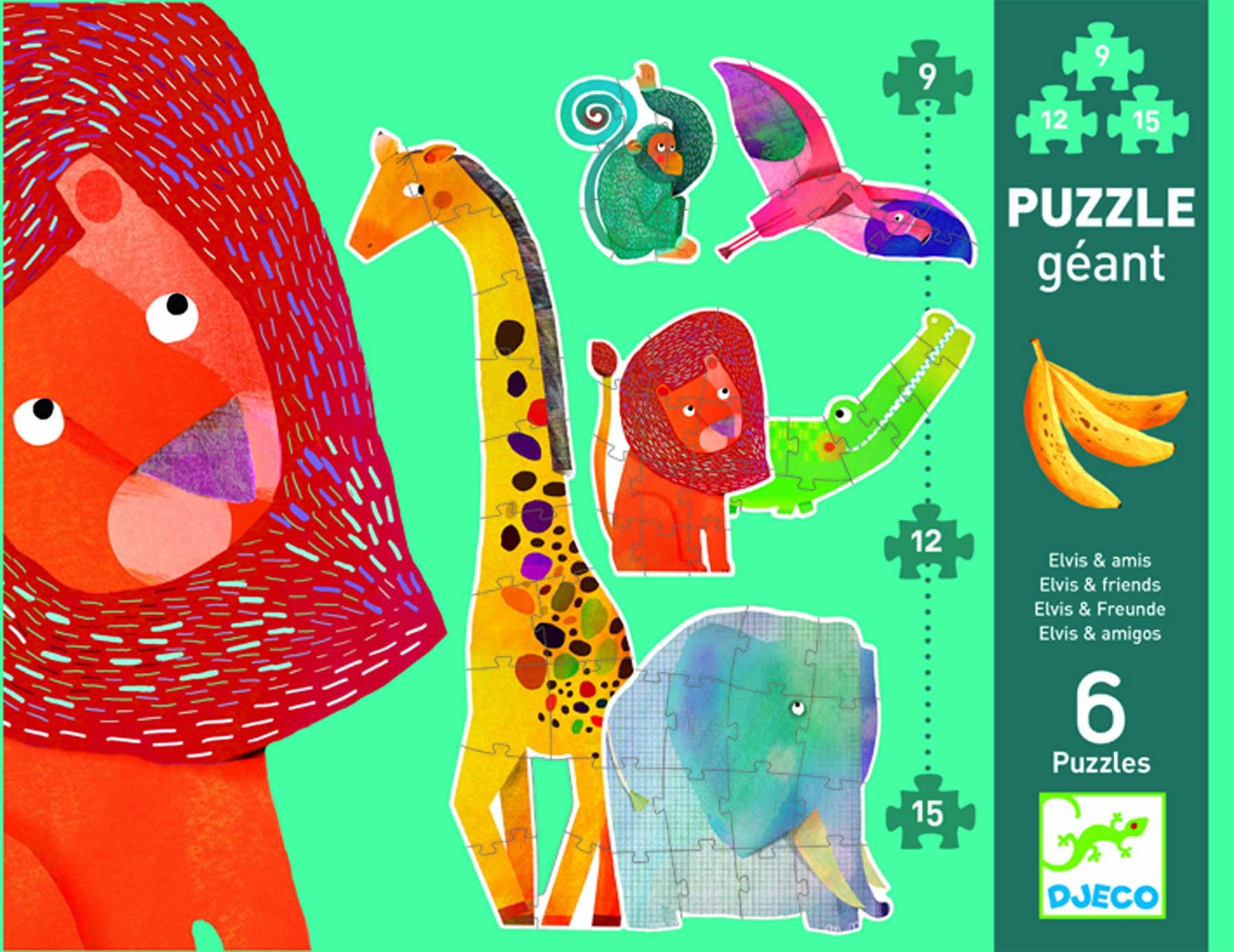 Puzzle gigant animale jungla djeco