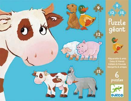 Puzzle gigant animale djeco