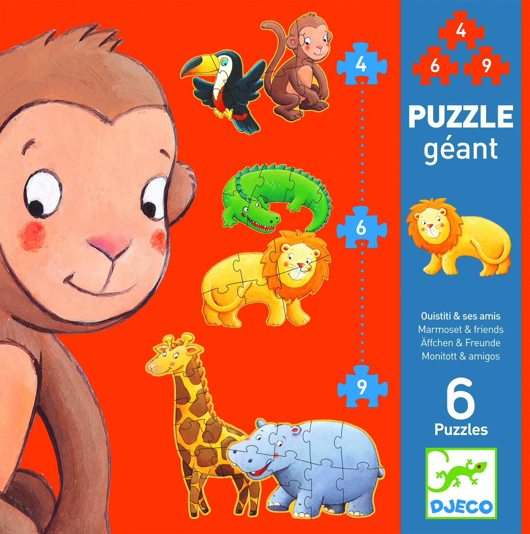 Puzzle gigant animale salbatice djeco