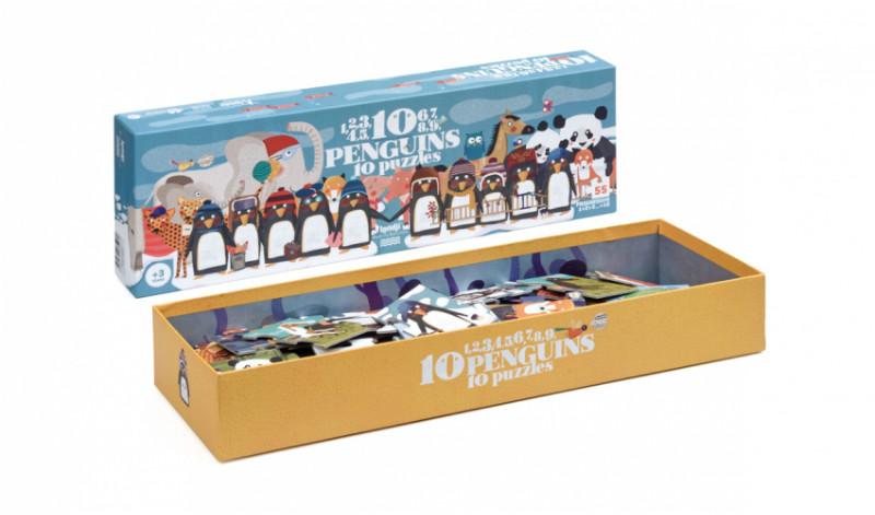 Puzzle progresiv pinguini londji