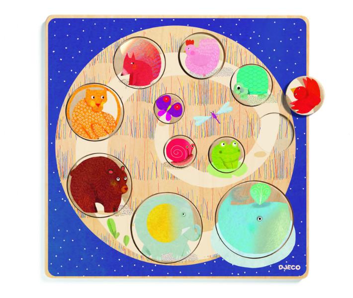 Puzzle lemn mic-mare djeco imagine