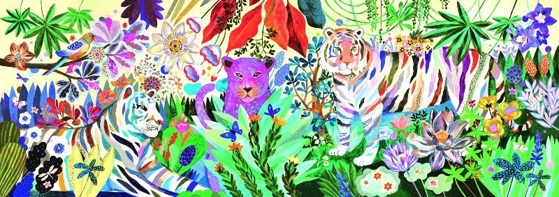 Puzzle tigrii curcubeu djeco