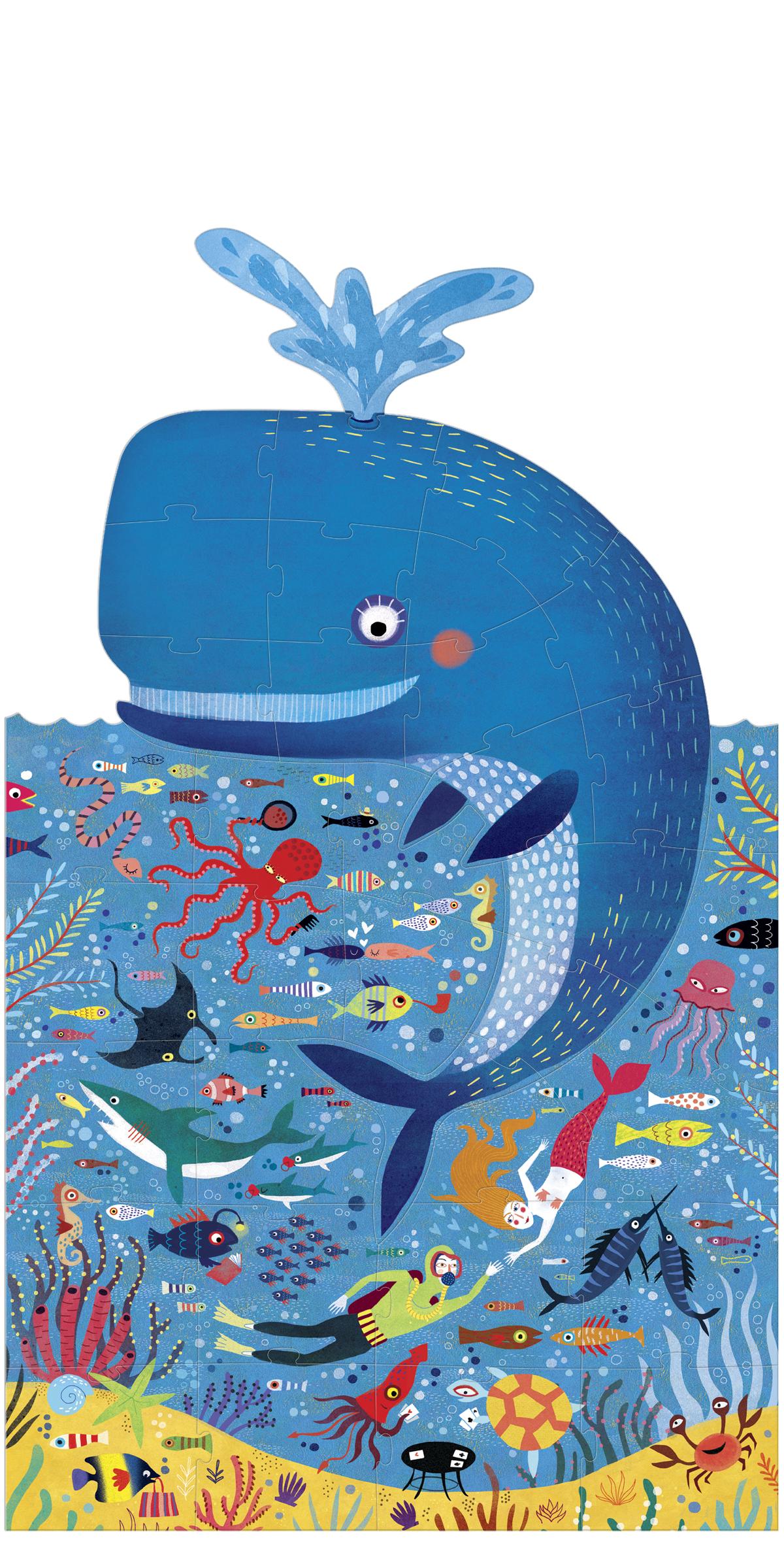 Puzzle balena albastra londji