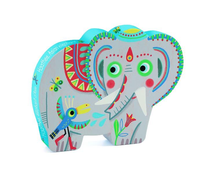 Puzzle elefantul asiatic djeco