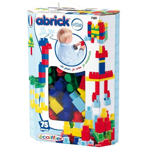 Cuburi constructii abrick set 75 piese ecoiffier imagine