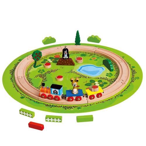 Trenulet cu sina circulara bino imagine