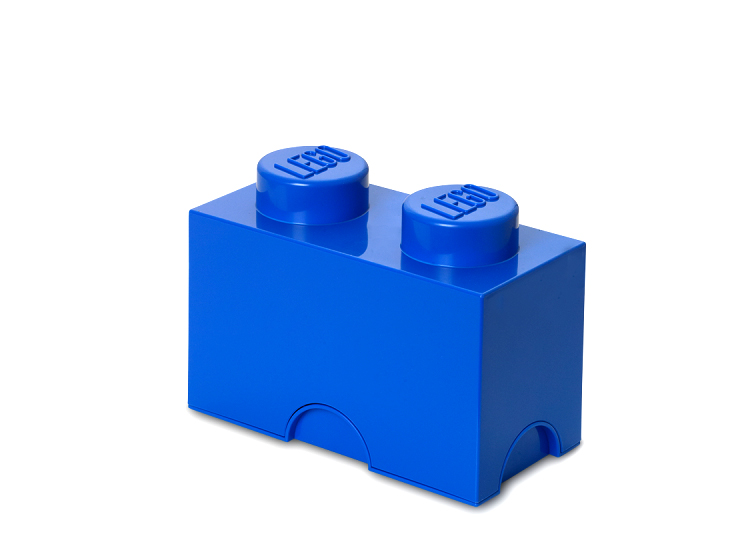 Cutie depozitare lego 1x2 albastru inchis imagine