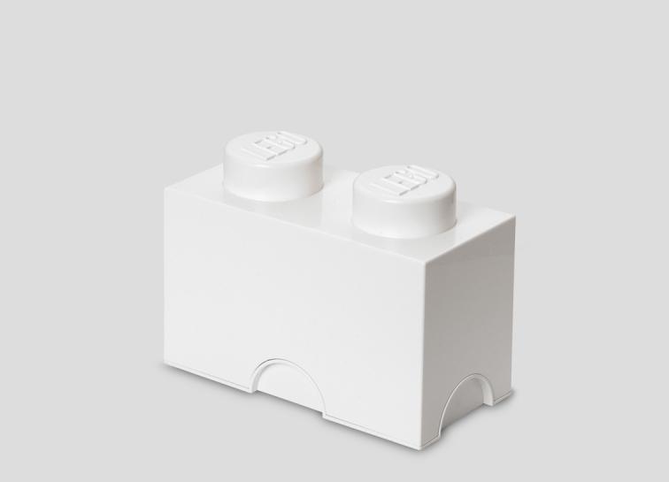 Cutie depozitare lego 1x2 alb imagine