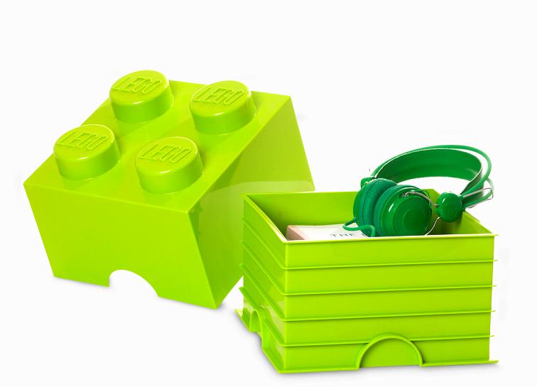 Cutie depozitare lego 2x2 verde deschis imagine