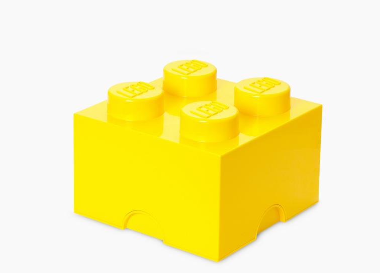 Cutie depozitare lego 2x2 galben imagine