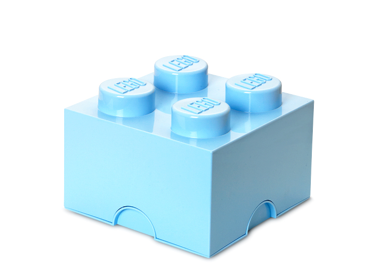 Cutie depozitare lego 2x2 albastru deschis imagine
