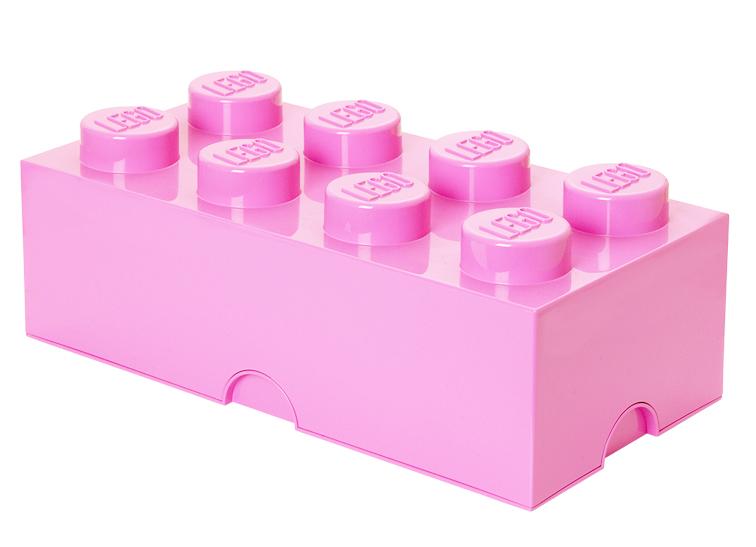 Cutie depozitare lego 2x4 roz deschis imagine