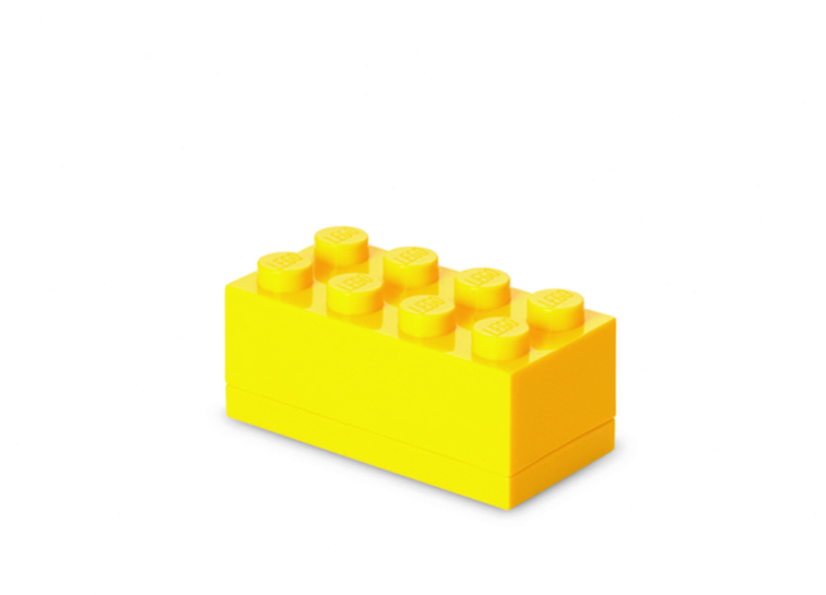 Mini cutie depozitare lego 2x4 galben imagine