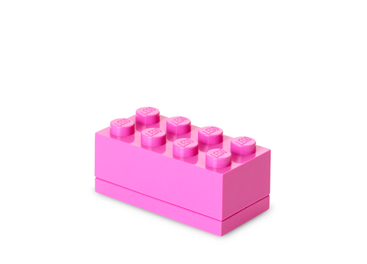 Mini cutie depozitare lego 2x4 roz imagine