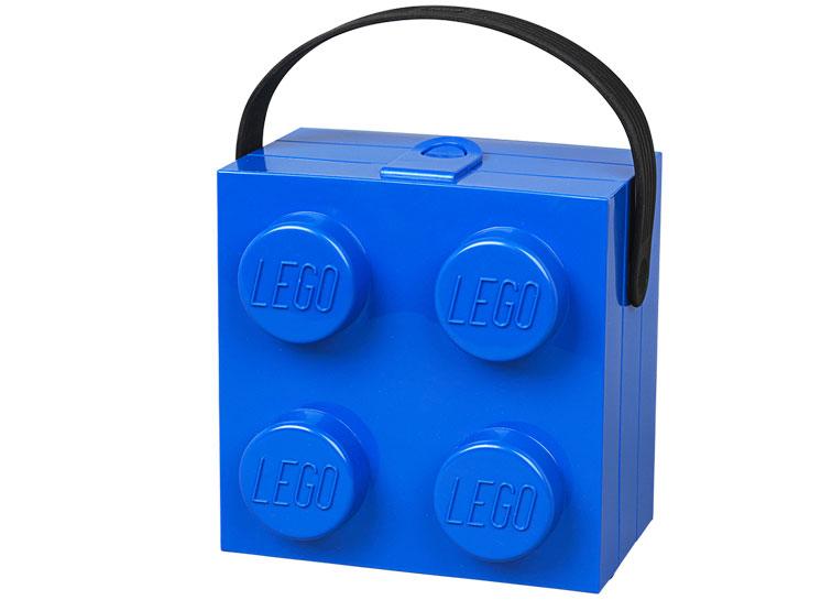 Cutie pentru sandwich lego 2x2 albastru imagine