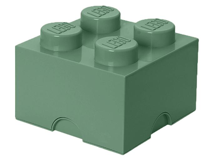 Cutie depozitare lego 2x2 verde nisip imagine