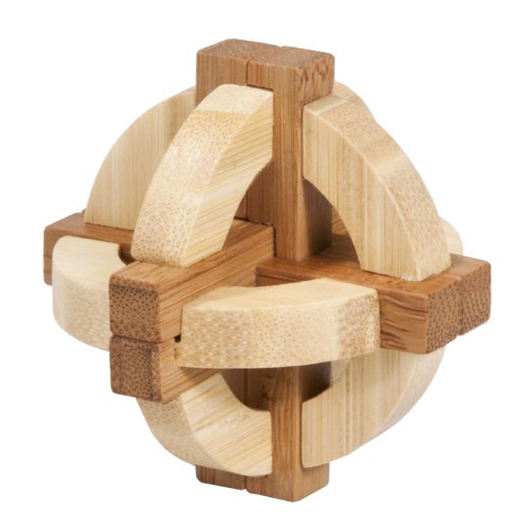 Joc logic iq din lemn bambus in cutie metalica-1 fridolin