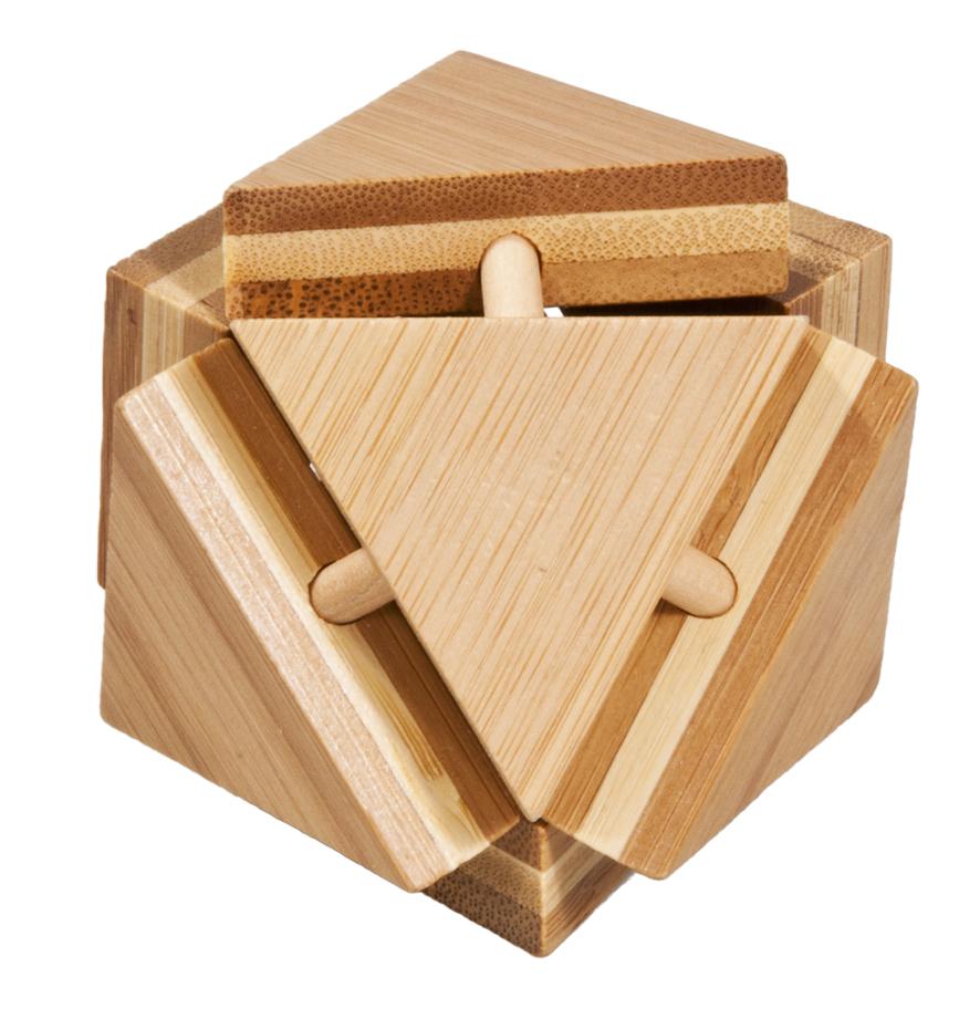 Joc logic iq din lemn bambus triangleblock fridolin