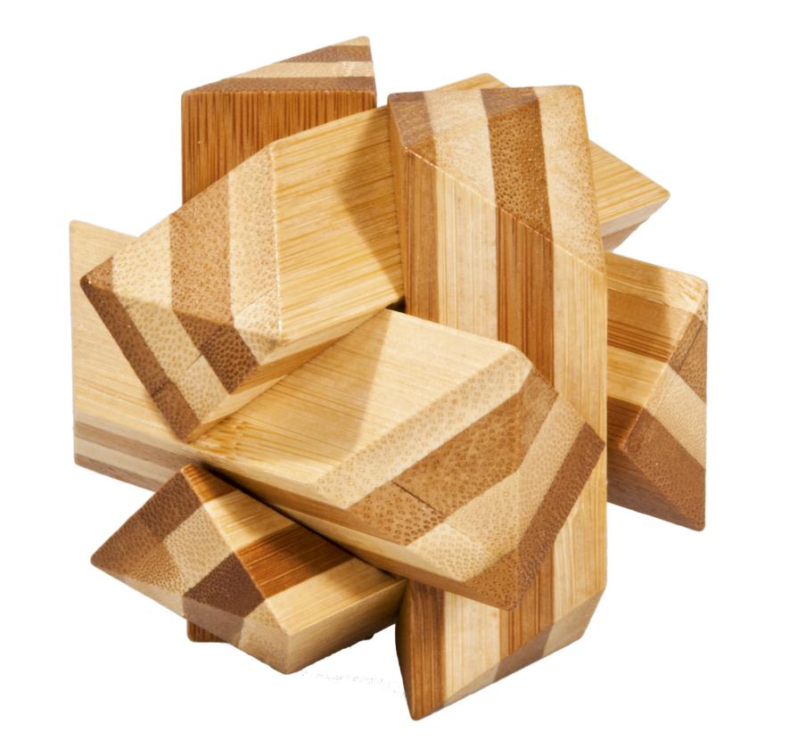Joc logic iq din bambus angular knot fridolin
