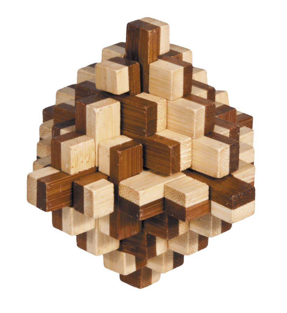 Joc logic iq din lemn bambus 3d iceberg fridolin