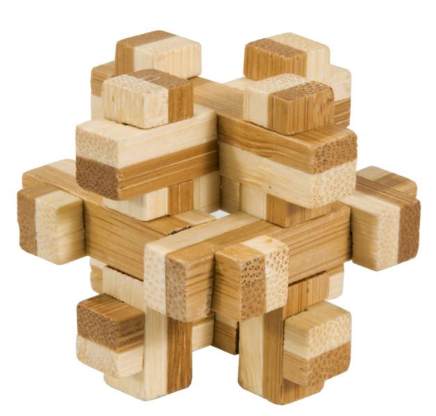 Joc logic iq din lemn bambus in cutie metalica-10 fridolin