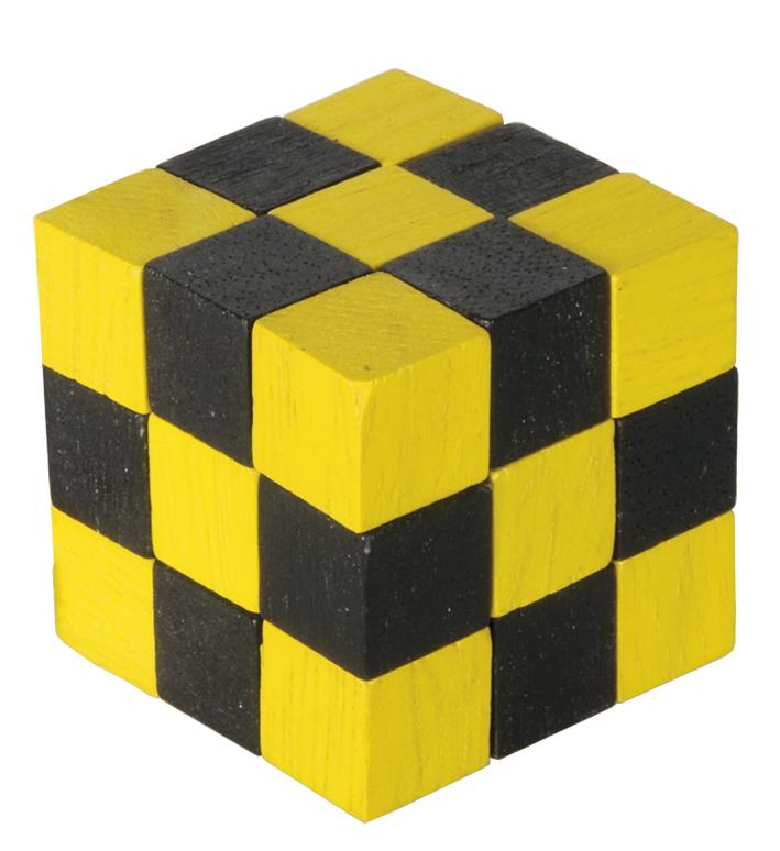 Joc logic cub sarpe negru si galben fridolin
