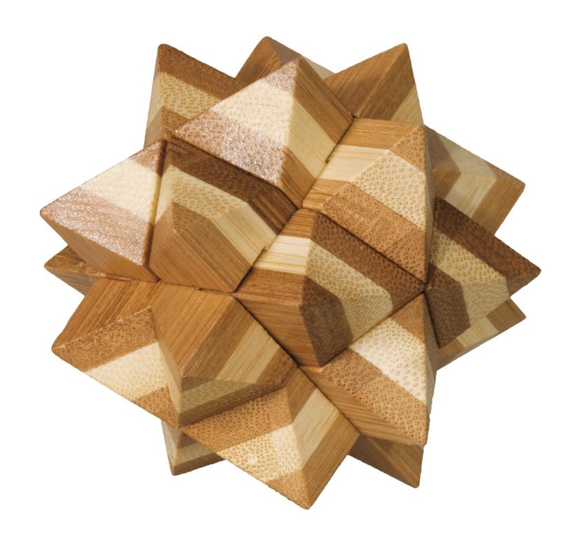 Joc logic iq din lemn bambus star fridolin