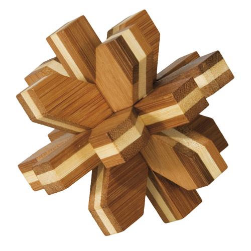 Joc logic iq din lemn de bambus cristal 3d fridolin