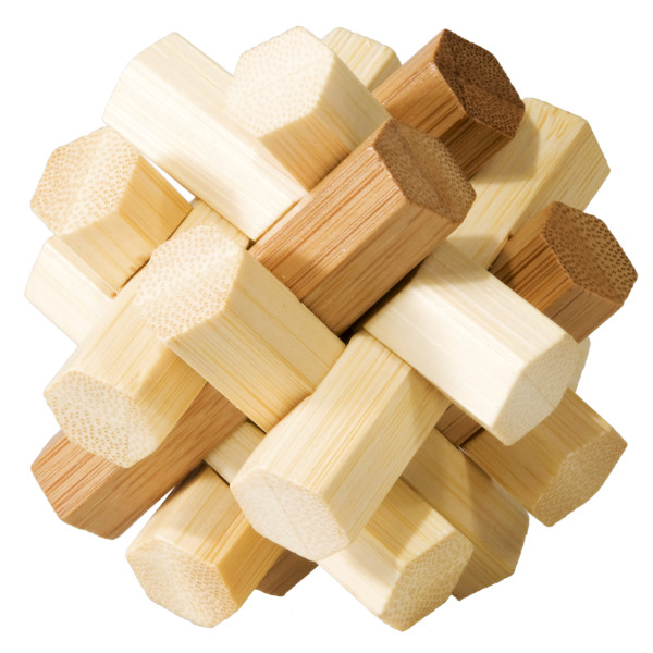 Joc logic iq din lemn bambus double knot fridolin