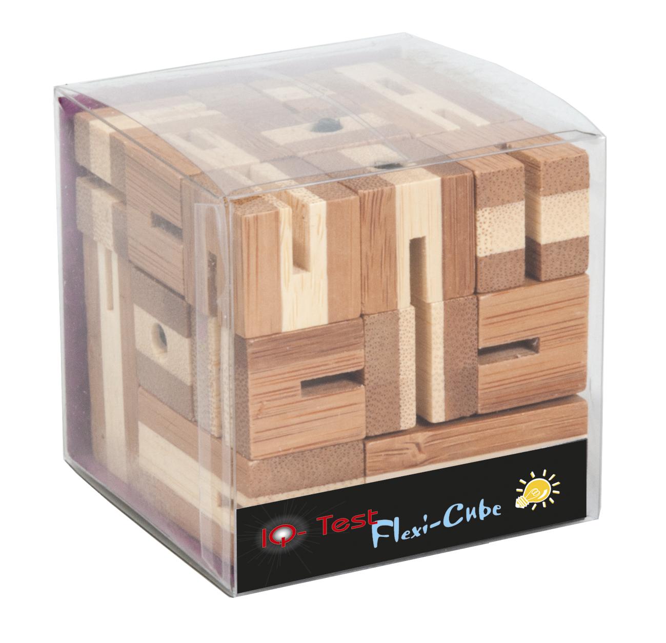 Joc logic puzzle 3d din bambus flexi-cub 3 fridolin