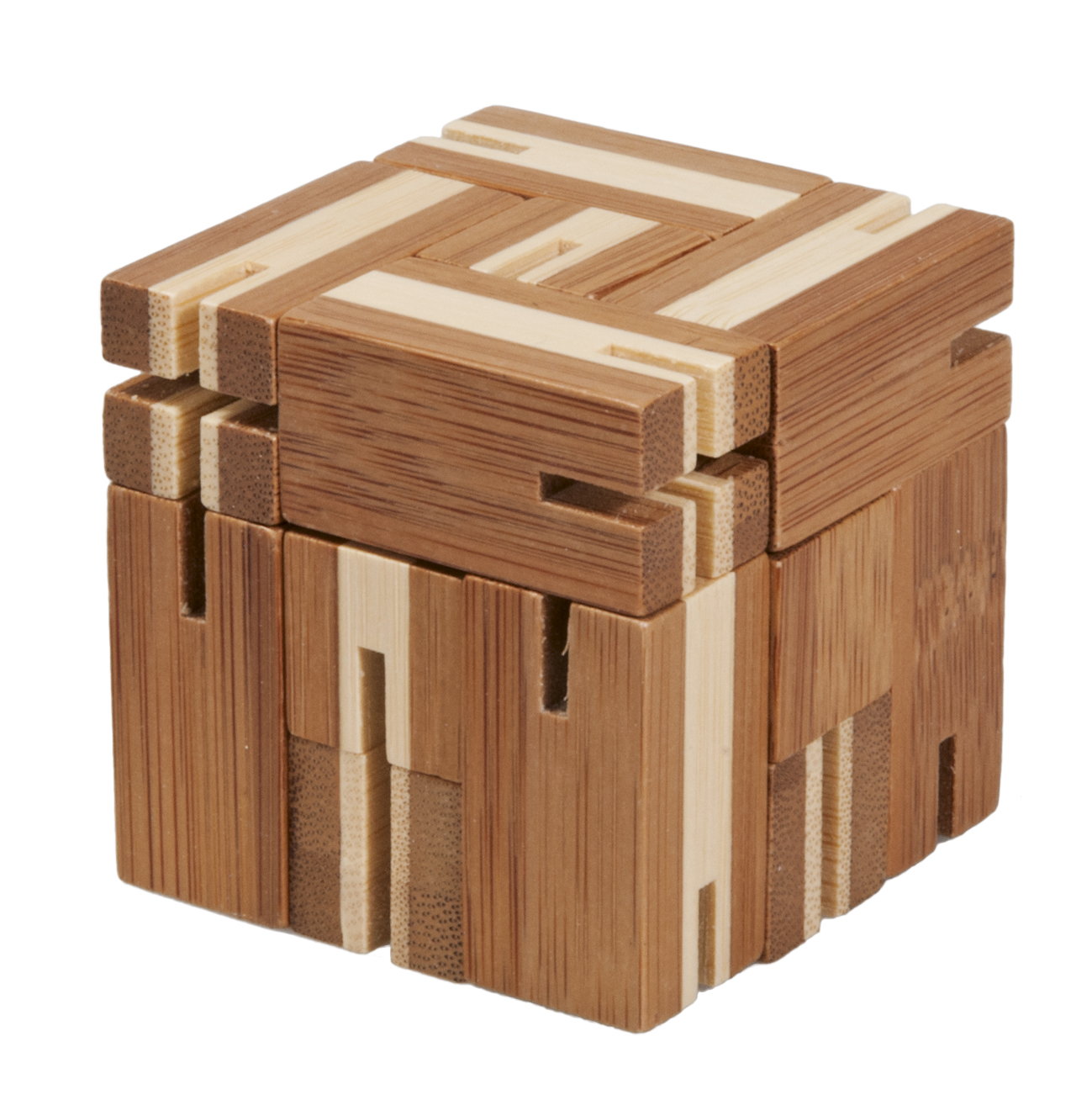 Joc logic din bambus puzzle 3d flexi-cub 3 fridolin
