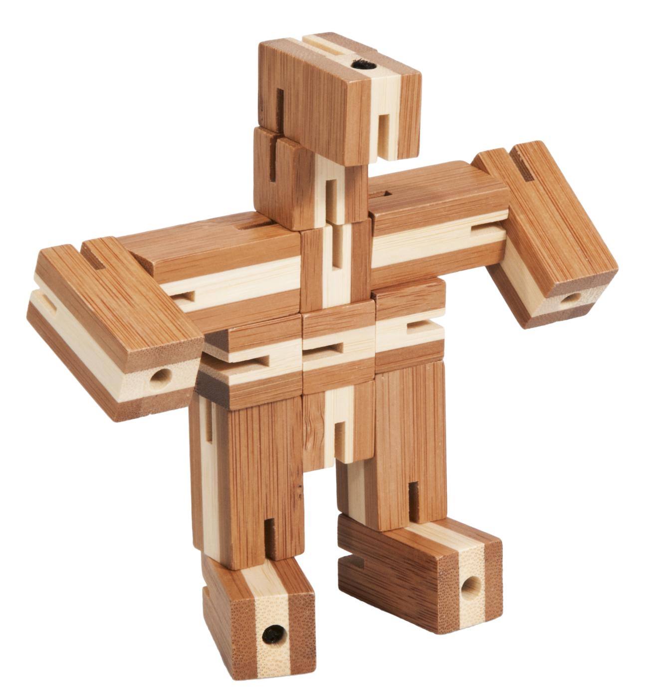 Joc logic din bambus puzzle 3d flexi-cub 3 fridolin - 1