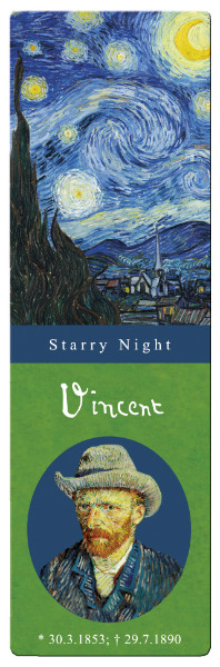 Semn de carte van gogh starry night fridolin
