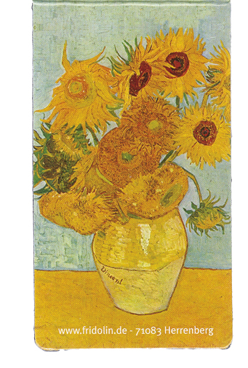 Semn de carte magnetic van gogh sunflowers fridolin