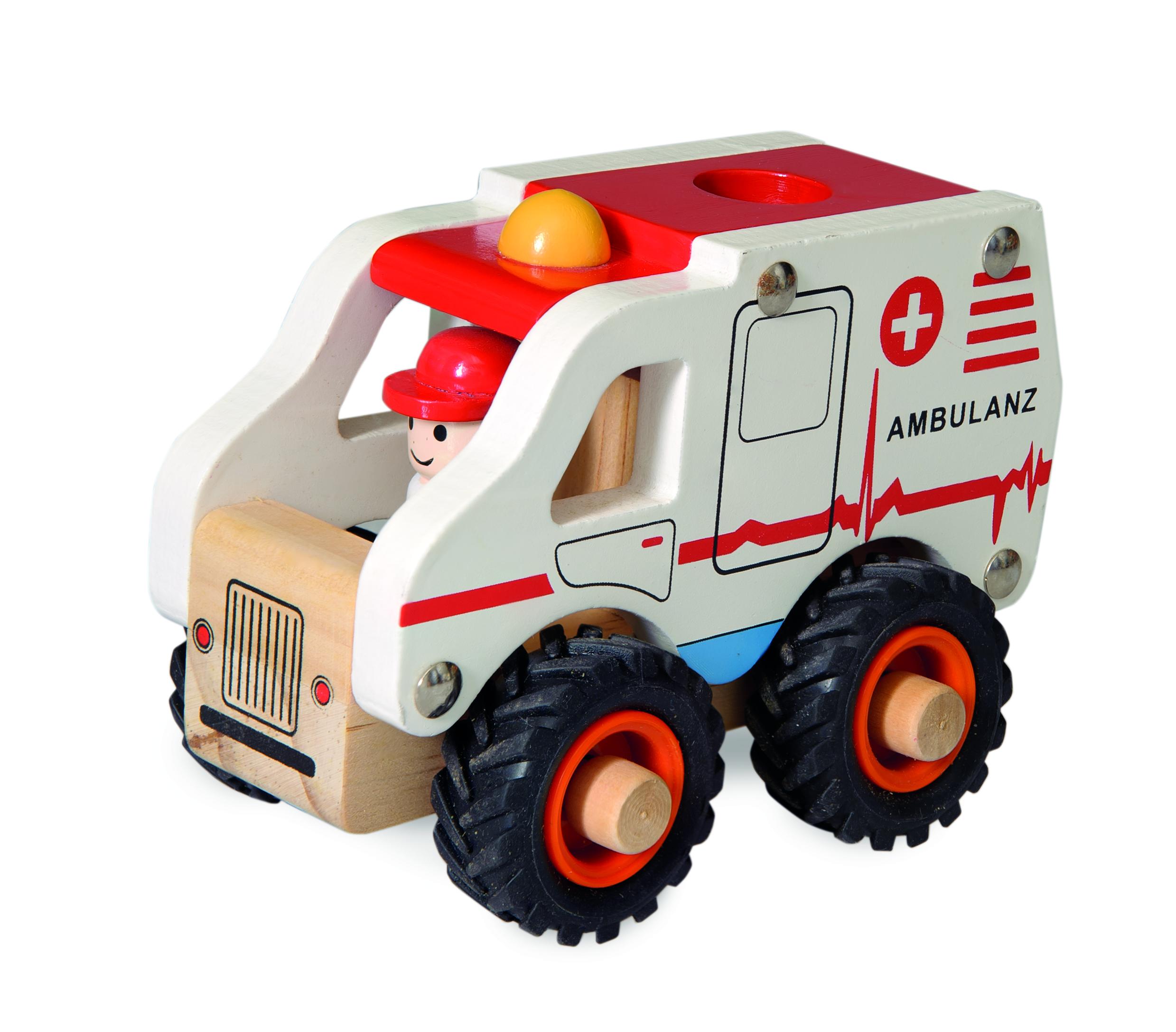 Ambulanta de lemn egmont toys imagine