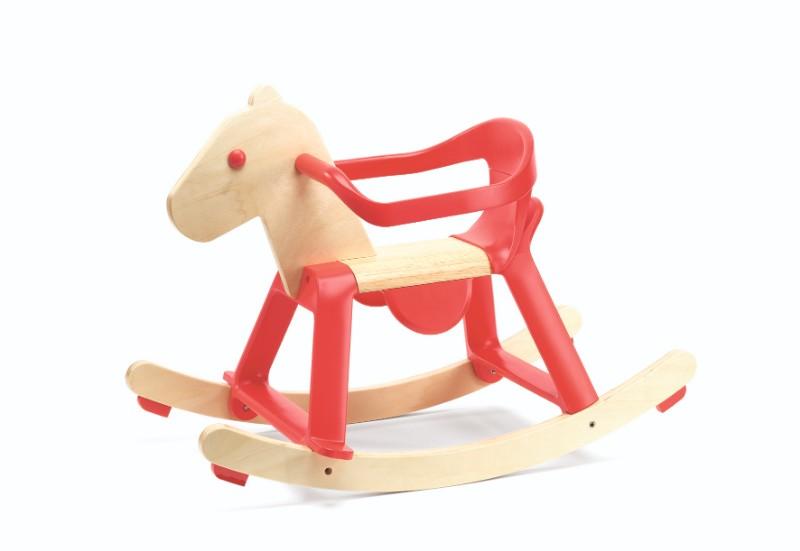 Balansoar calut cu suport rosu djeco imagine