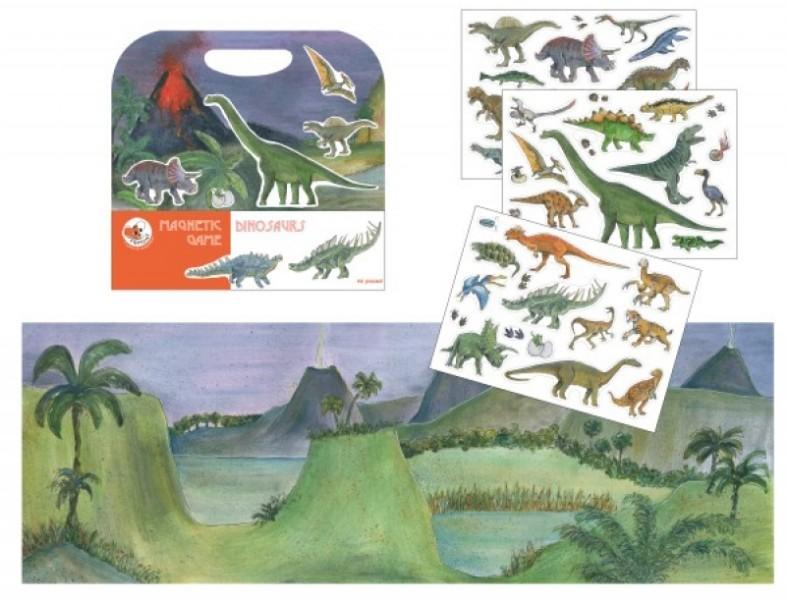 Joc magnetic cu dinozauri egmont toys